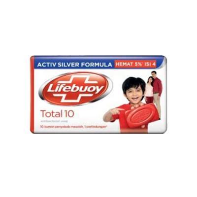 Lifebuoy Barsoap Total 10 4 x 110gr - Merah